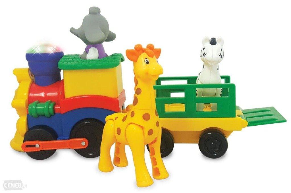 Kiddieland 053884 Pociąg Safari ze Zwierzątkami