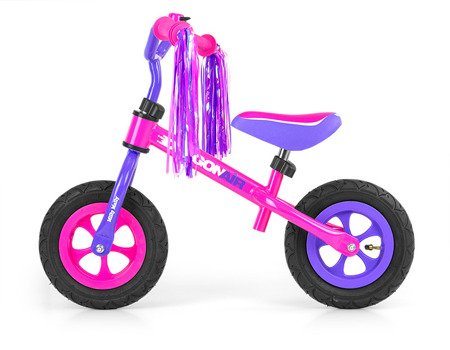 Rowerek biegowy Dragon różowy. MILLY MALLY