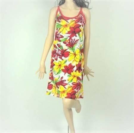 Sukienka Plażowa Bawełna BUKIET KOLOR S