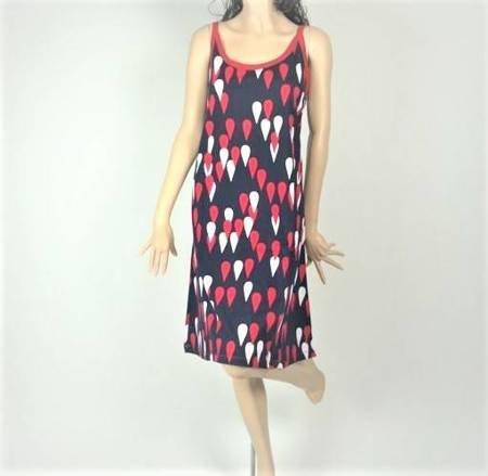 Sukienka Plażowa Bawełna KROPELKI MARINE 1XL