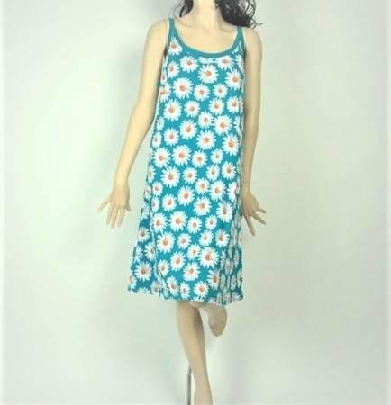 Sukienka Plażowa Bawełna STOKROTKI GREEN 1XL