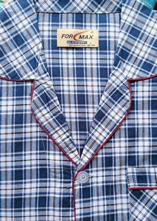 piżama męska rozpinana KRATKA DENIM/GRANAT M-5XL