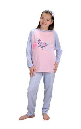 piżamka dziewczęca OCIEPLANA RÓŻ MEL 86 cm-158 cm