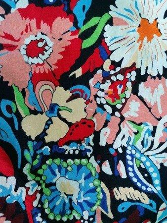 sukienka plażowa KWIATY POP KOLOR S-3XL